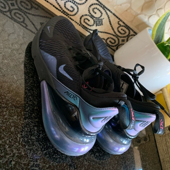 Nike Shoes Womens Black And Purple Airmax 270 Sneakers Poshmark